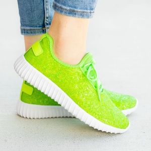 KIDS Glitter Bomb Tennys - LIME
