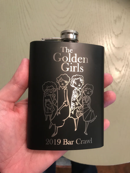 Golden Girls Bar Crawl Flask