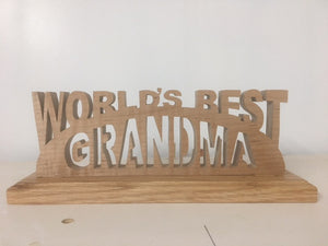 475, Worlds Best Grandma Pa, 9.4 in. x 3.3 in.