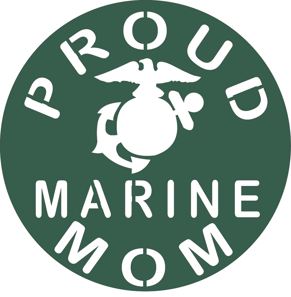 778, Proud Marine Mom, 6 in. x 6.5 in.