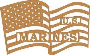 783, US Marines Flag, 6.5 in. x 10.5 in.