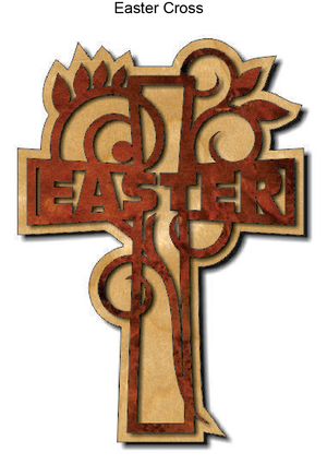 802, Easter Cross, 7 in. x 10 in.