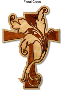 804, Floral Cross, 7 in. x 10 in.