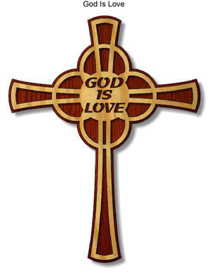 806, God is Love Cross, 8 in. x 10.5 in.