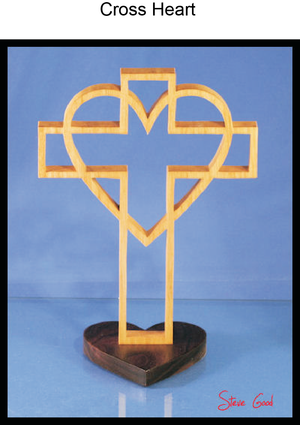 809, Heart Cross, 6 in. x 9.75 in.