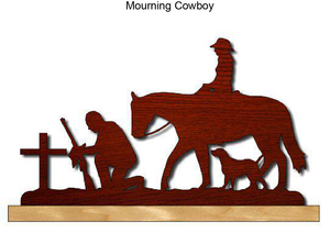 835, Mourning Cowboy, 18 in. x 10 in.