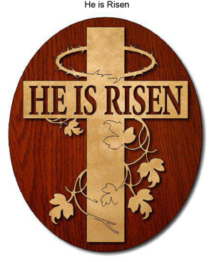 841, He is Risen Cross, 6.25 in. x 10.5 in.