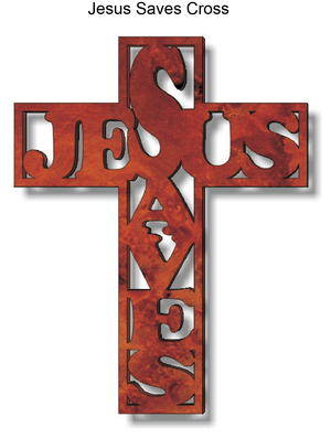 844, Jesus Saves Cross, 7 in. x 8.5 in.