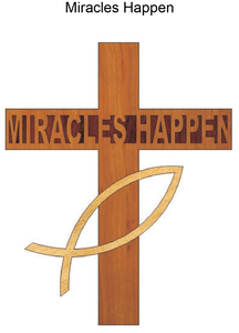 847, Miracles Cross, 7.75 in. x 5 in.