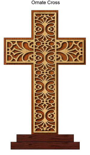 848, Ornate Cross, 7.25 in. x 9 in.