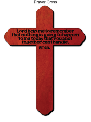 849, Prayer Cross, 6.75 in. x 9.75 in.