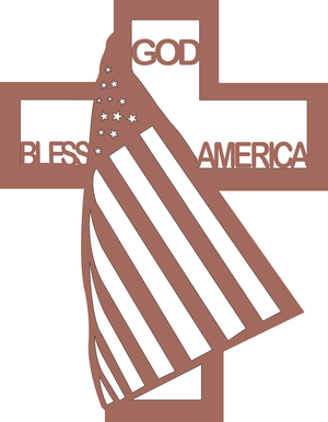 852, God Bless America, 9 in. x 11 in.