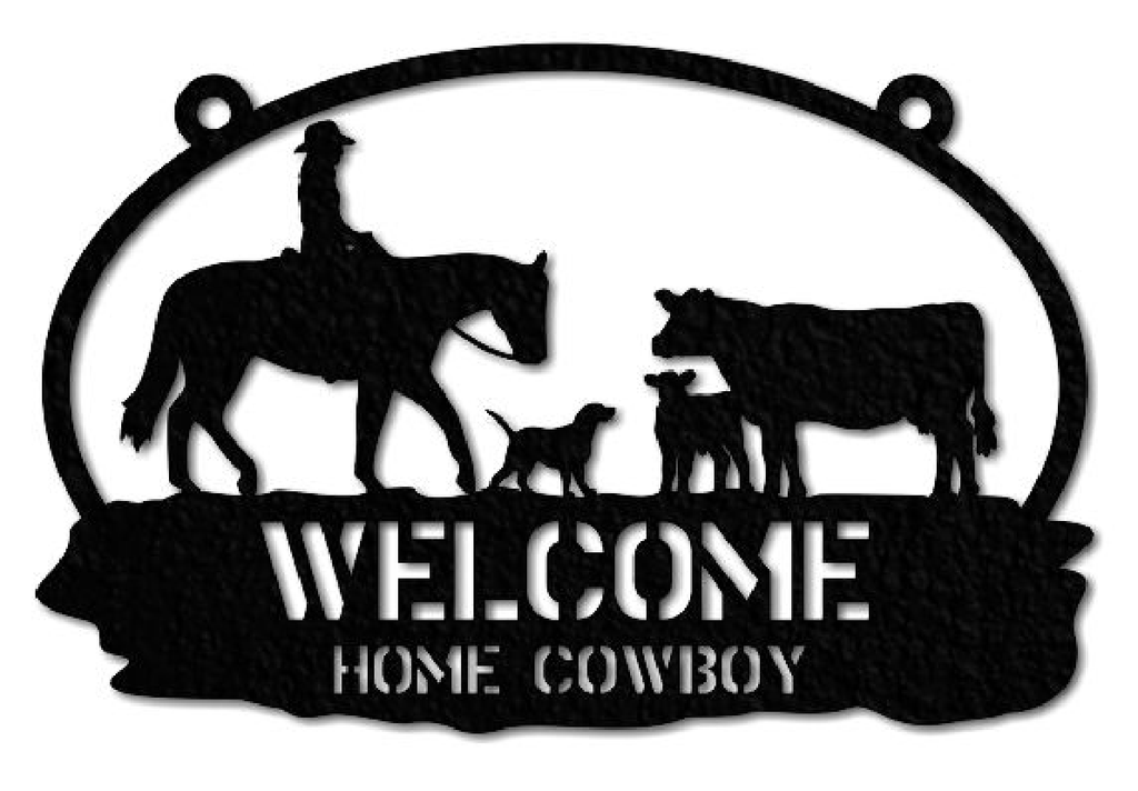 1094, Welcome Home Cowboy, 5.25 in. x 10 in.