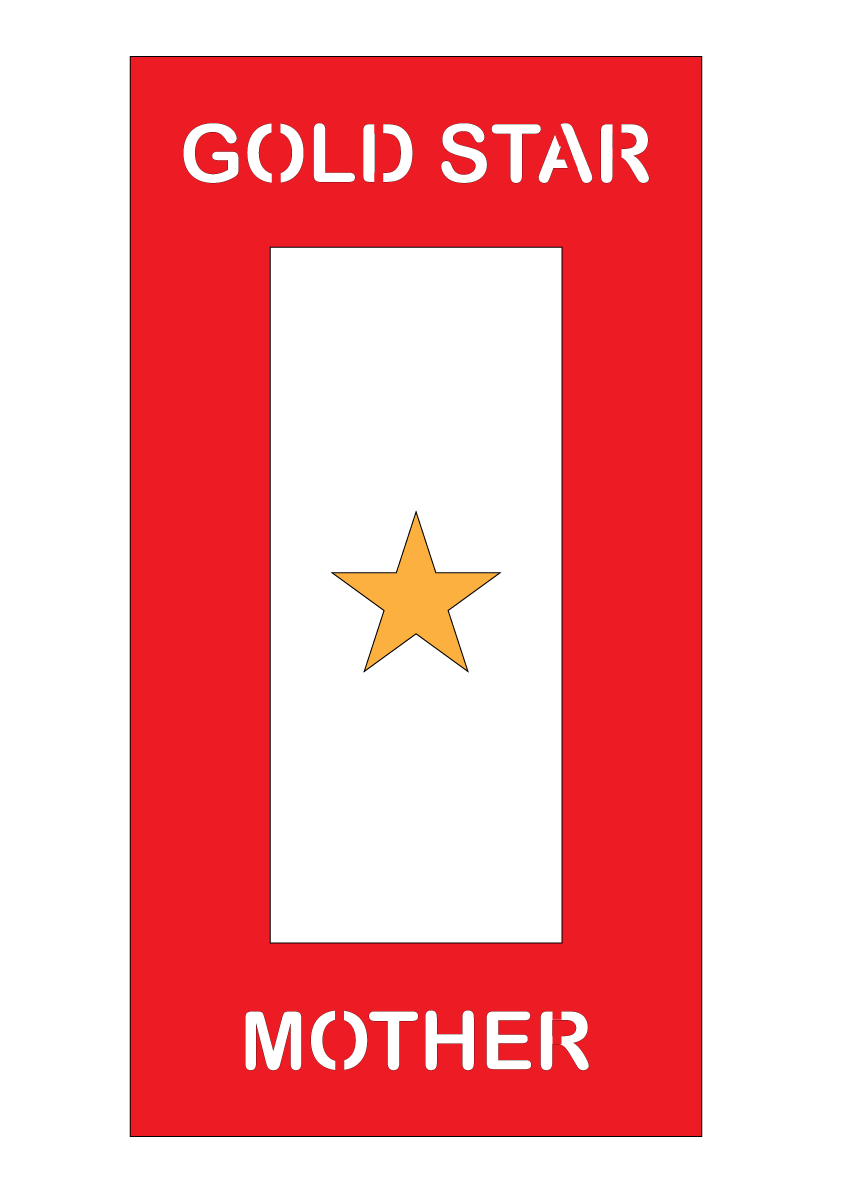 Gold Star Mother Plaque