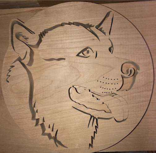 Alaskan Malamute Scroll Saw Art