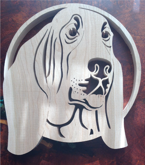 Basset Hound Scroll Saw Art