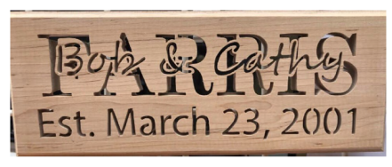 Custom Sign with date, Cherry