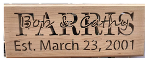 Custom Sign with date, Oak