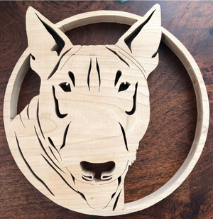 Bull Terrier Scroll Saw Art