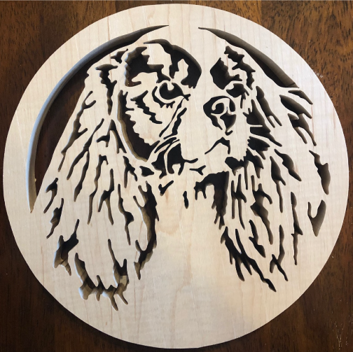 Cavalier King Charles Scroll Saw Art