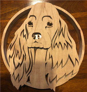 Cocker Spaniel Scroll Saw Art