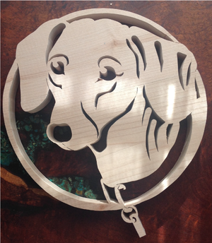 Dachshund Scroll Saw Art