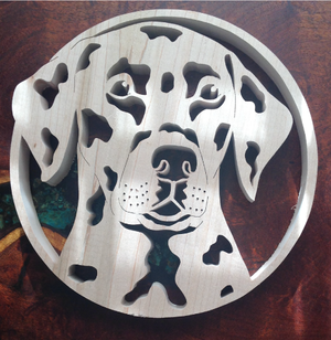 Dalmatian Scroll Saw Art