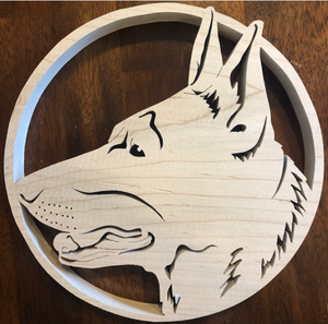 German Shepherd Scroll Saw Art