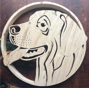 Rhodesian Ridgeback Scroll Saw Art
