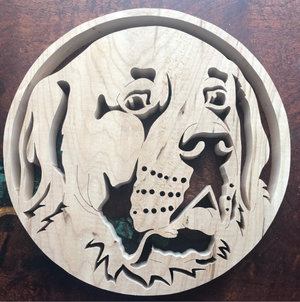 Saint Bernard Scroll Saw Art