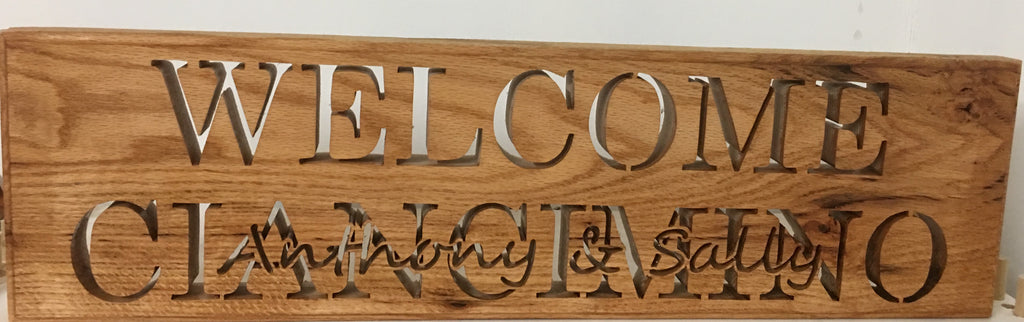 Custom Welcome Sign, Cherry