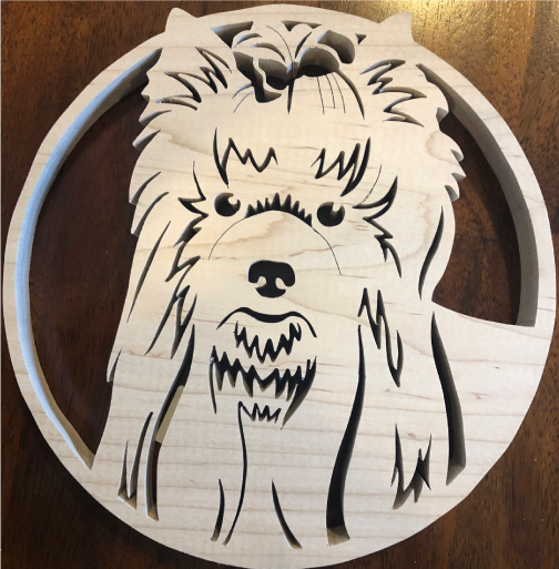 Yorkshire Terrier Scroll Saw Art