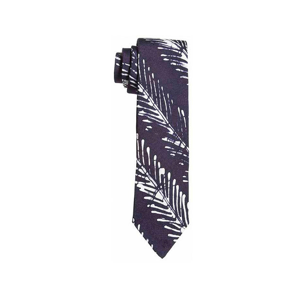 Indigo Fishbone Striped Adire Tie - Post Imperial - OXOSI
