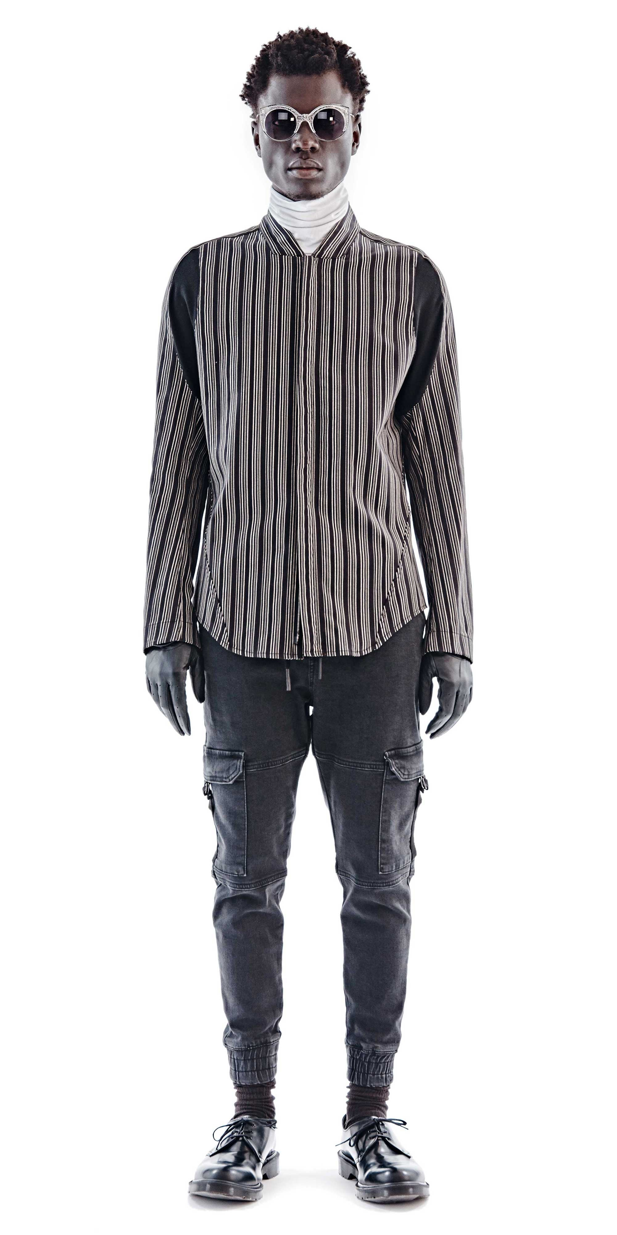 Black Tri-Stripe Arc Arpes Shirt - Abasi Rosborough - OXOSI
