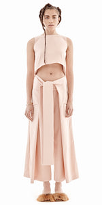 Bridget Awosika Bow Belt Wide Legs Pants