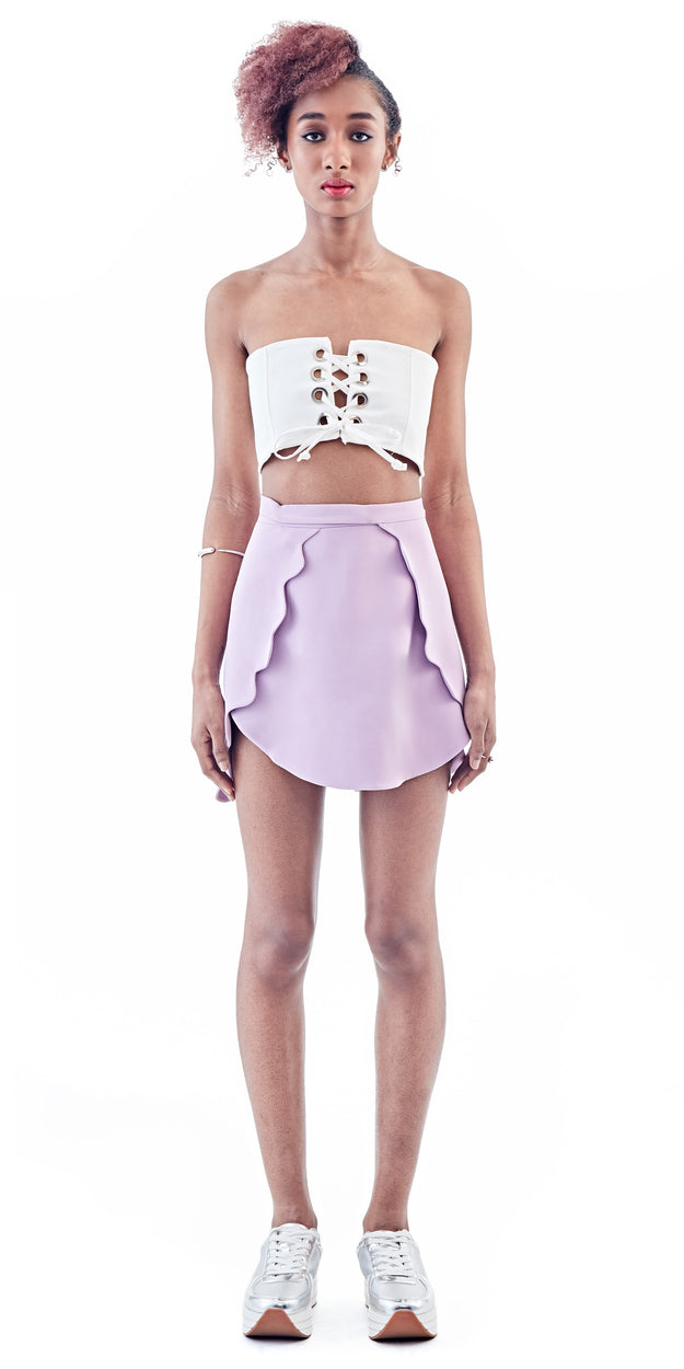 Lilac Scalloped Skirt - Bridget Awosika - OXOSI