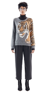 Chulaap Charcoal Tiger Sweater