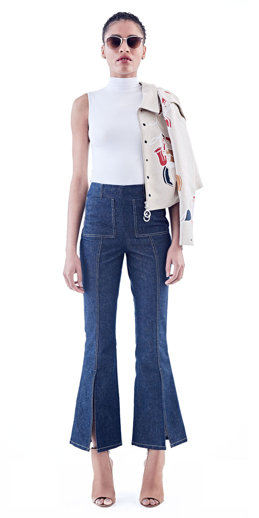 EDUN Denim Split Pant