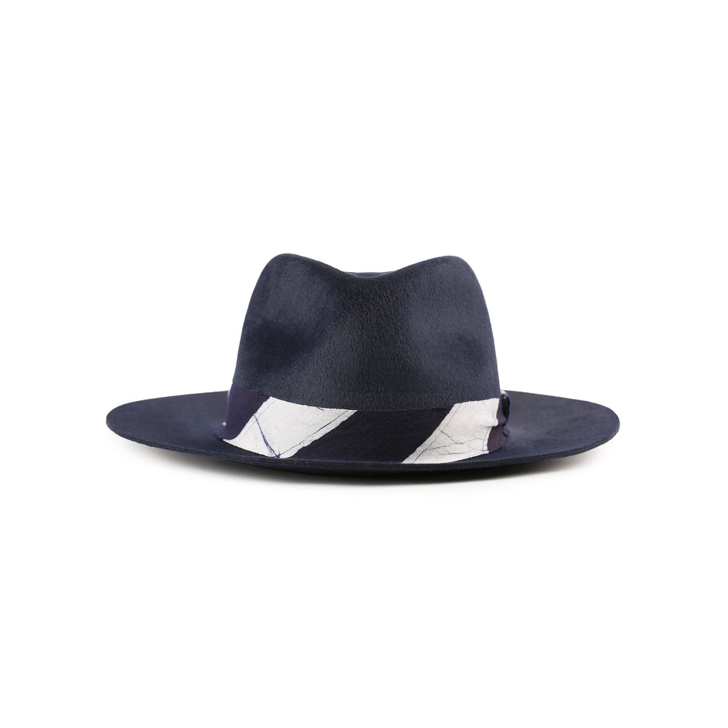 Post Imperial Indigo Fedora Hat