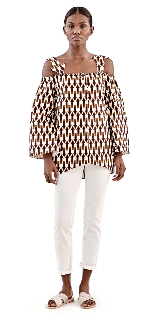 Lisa Folawiyo Arrows Cocoon Jacket