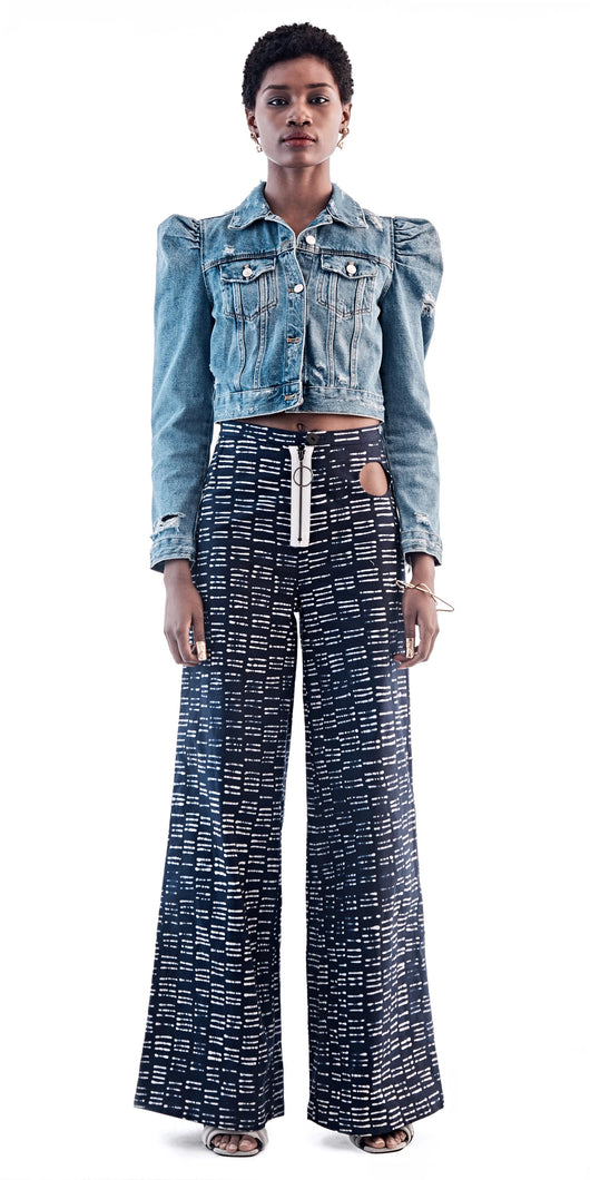 Maki Oh 'Broken Lines' Cutout Trousers