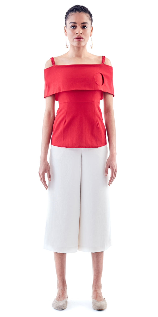 Off Shoulder Side Hole Top - Maki Oh - OXOSI