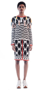 MaXhosa Long Sleeve Black Tassle Top