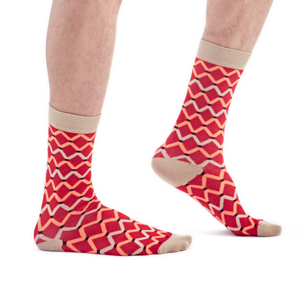 MaXhosa Red Patterned Socks