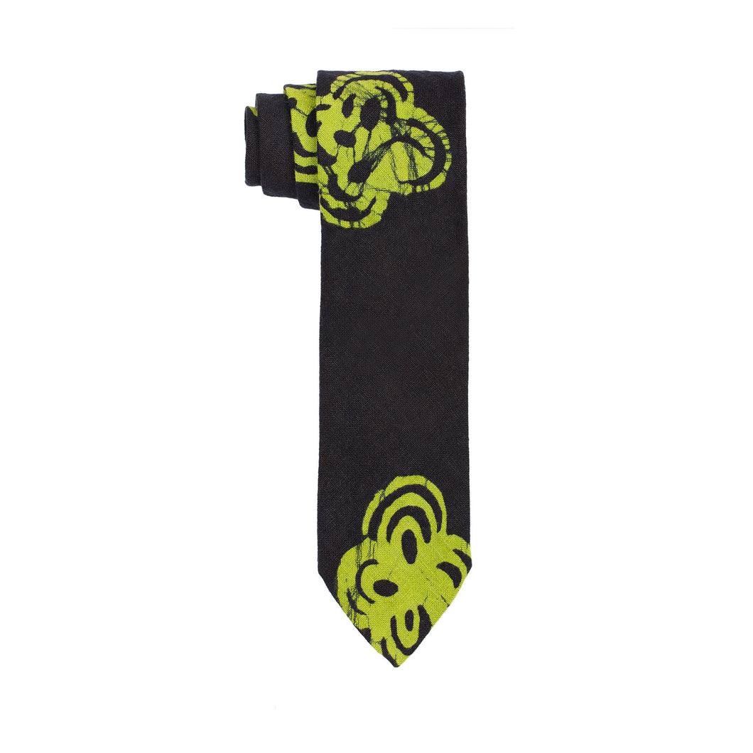 Post Imperial Green Adire Together Pattern Tie