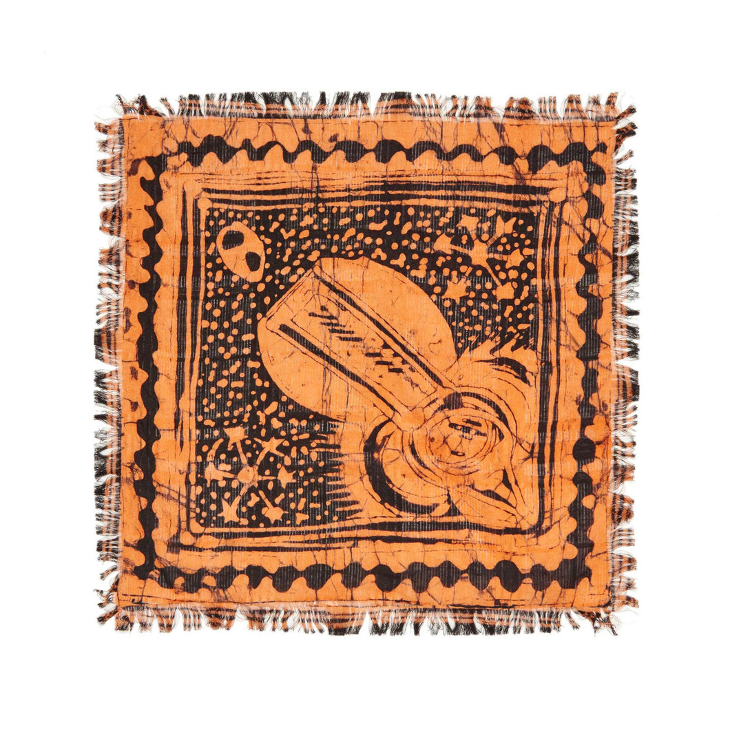 Post Imperial Indigo Gecko Adire Pocket Square