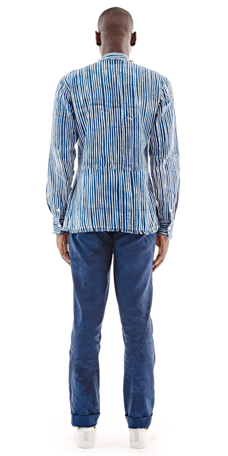 Pencil Stripe Azure Mainland Shirt - Post Imperial - OXOSI