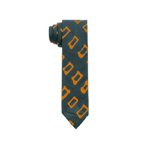 Post Imperial Green Circle Pattern Tie