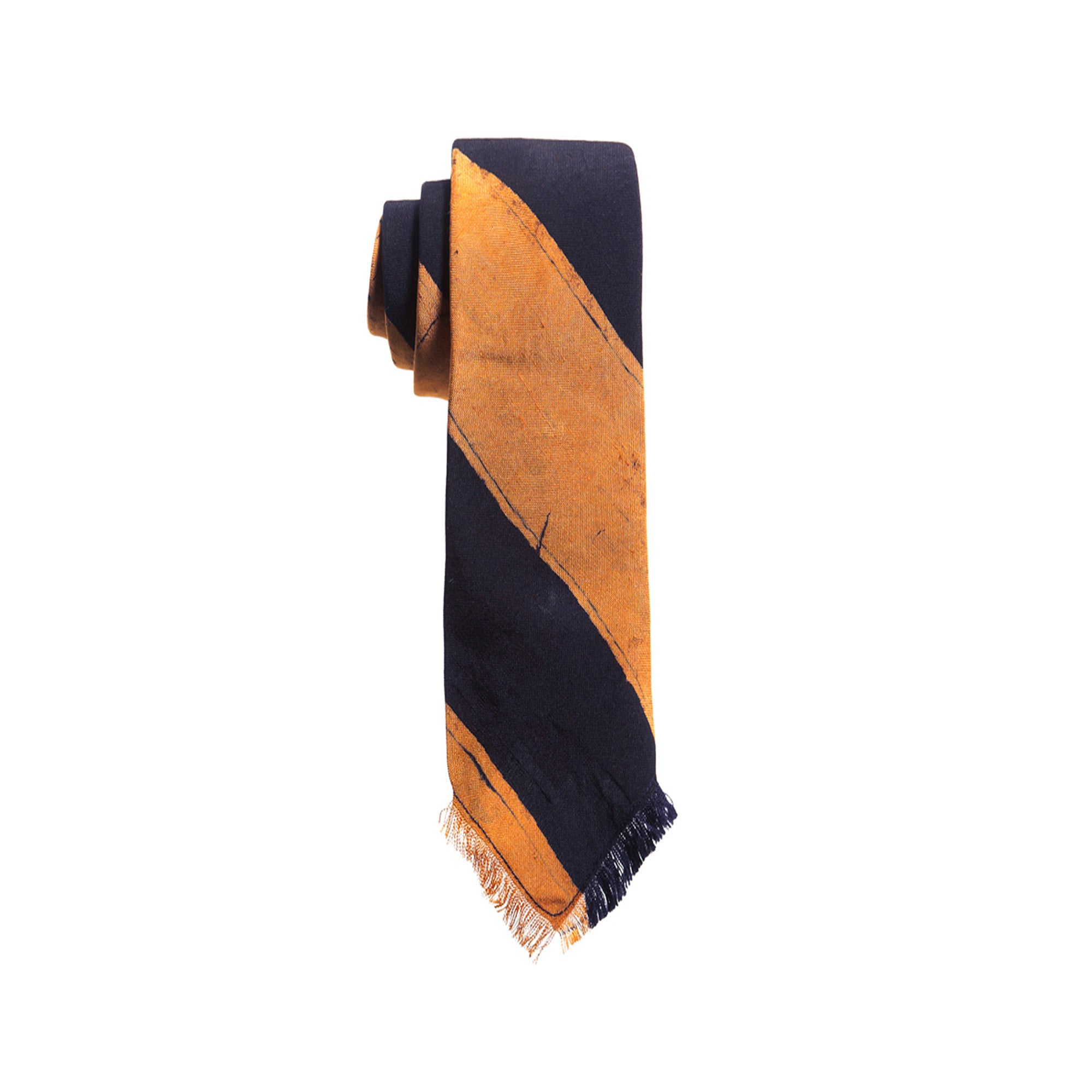 Orange Wide Stripe Tie - Post Imperial - OXOSI