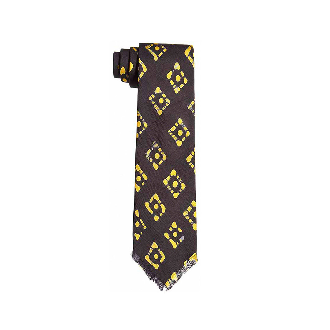 Post Imperial Indigo Dotted Diamond Pattern Tie